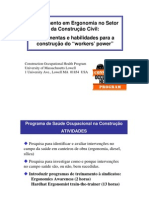 Ergonomia no Setor da Construção Civil pdf