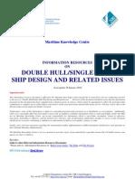 DOUBLE HULL - SINGLE HULL SHIP DESIGN _28 January 2010