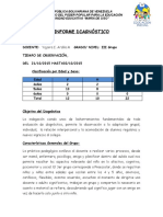 Informe Diagnóstico For