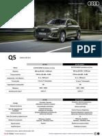 Ficha Tecnica Q5 Audi 2021 V1