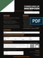 Formulario Inscripción y Términos y Condiciones Gatorade