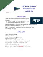 2011 SDNA Convention Program