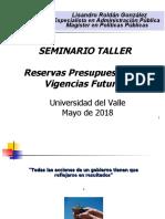 Taller Hacienda Publica  Reservas y Vigencia Futuras