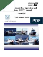 US Coast Guard Boat Operations and Training Boat Manual Vol II