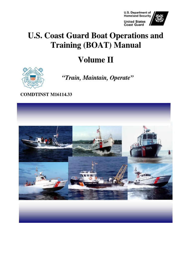 us coast guard boat operations and training boat manual vol ii rh es scribd com Boat Operations and Training Manual Volume 2 Hypothermia Symptoms