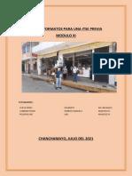 TRABAJO GRUPAL LLENADO DE FORMATOS ITSE PREVIA