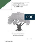 Normes d Intervention Milieu Forestier Jan98