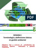 Semana 1.- Términos  y definiciones  basicas en la Gestión Ambiental
