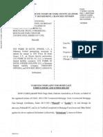 Foreclosure complaint