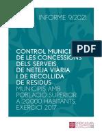 Informe de la Sindicatura sobre les concessions municipals