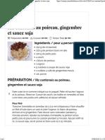 Journal Des Femmes Riz Cantonais Au Poireau Gingembre Et Sauce Soja