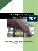 Cronologia Historica Educacion en Venezuela 2020