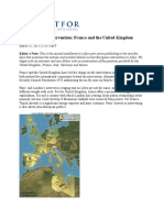 Europe's Libya Intervention France and the United Kingdom