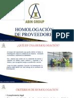HOMOLOGACIÓN DE PROVEEDORES