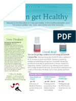 C'Mon Get Healthy Newsletter Issue #1 2011