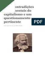 Duas Contradições Fundamentais Do Capitalismo e Um Questionamento Pertinente