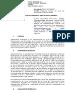 Nulidad de acta de proclamación de resultados ante el JEE Cajamarca