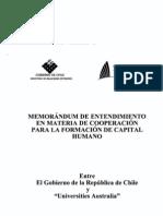 Convenio entre la Republica de Chile y Universities de Australia (V  Ingles)