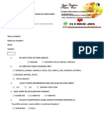 Formulário de questões do curso de cones hindu