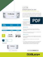 Luminaria de Emergencia Led 6w Nova Lamps