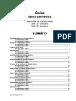 Física - optica questões de vestibular 2009