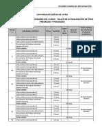 CRONOGRAMA DE ACTIVIDADES DEL CURSO - TALLER DE ACTUALIZACIÓN DE TESIS PREGRADO Y POSGRADO - 12 SEMANAS