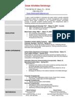 Cesar Sotolongo - Resume updated 03.23.2011