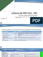 Reporte de Auditoría del PREP 2021 -IEPC