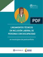Lineamientos Técnicos en Inclusión Laboral de Personas Con Discapacidad