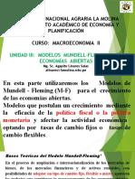 UNIDAD III - MODELOS MUNDELL-FLEMING   DE ECONOMÍAS ABIERTAS