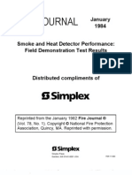 Smoke And Heat Detector Performance NFPA Fire Journal Jan 84