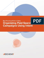 Organizing Paid Search Campaigns by Intent - White Paper
