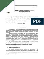 Nota PH-03 La Afectividad en El Conjunto Del Psiquismo Humano