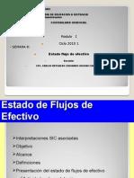 SEMANA 8  ESTADO FLUJ O DE EFECTIVO -2009  1 ADM