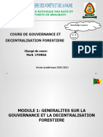 Module 1_ Gouvernance Forestière