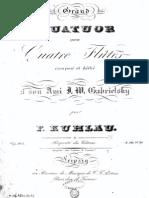 Op. 103 Grand Quatuor Pour Quatre Flutes