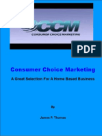 Consumer Choice Marketing| A Great Selection As A Home Based Business