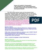 New Deal DBQ Essay Outline