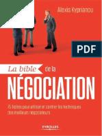 la bible de la negociation