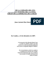 I Pregón del Sto. Sepulcro y la Virgen de la Esperanza de Caniles. 2007