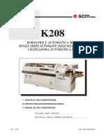 K208 Operating Manual