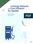 The Energy Balance of Corn Ethanol-USDA