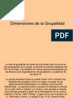 dimensiones de la grupalidad