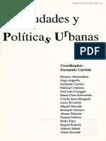 Carrión - Ciudades y Políticas Urbanas