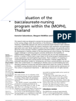 0 0 an Evaluation of the Baccalaureate-nursing Program Within the (MOPH), Thailand
