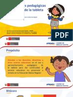 ORIENTACIONES PEDAGOGICAS DE USO DE TABLETS