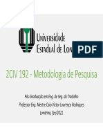 2CIV 192 - Metodologia de Pesquisa 2021