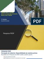 Relatório Matérias Primas FIESP CIESP - 7ª Edição - resinas, aços e papelão
