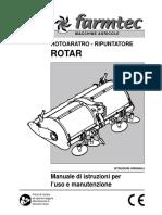 Rotoaratro-ripuntatore manuale