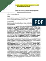 Modelo de Resolución de Conclusión del Procedimiento